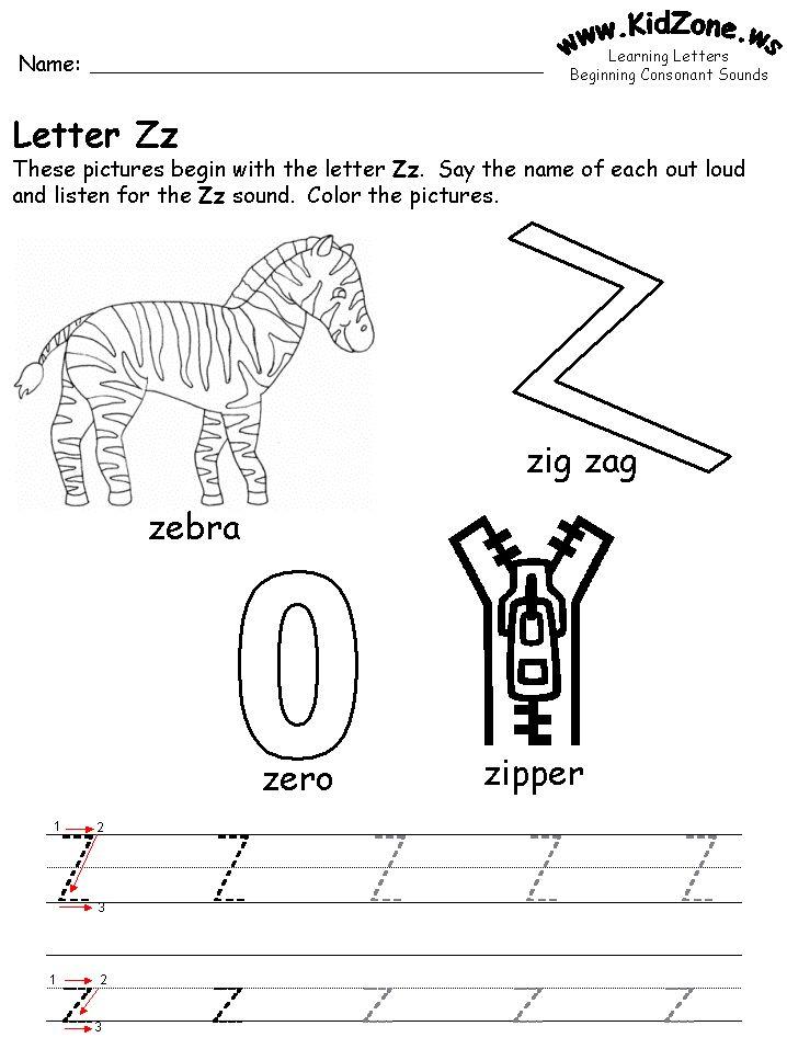 Printable Letter Activities Kidzone Educational Worksheets! 2204791 ...