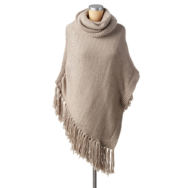 Chunky Knit Poncho Knitted poncho Pinterest
