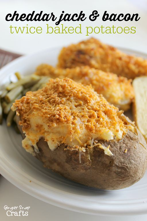 cheddar jack & bacon twice baked potatoes #freshtake #collectivebias # ...