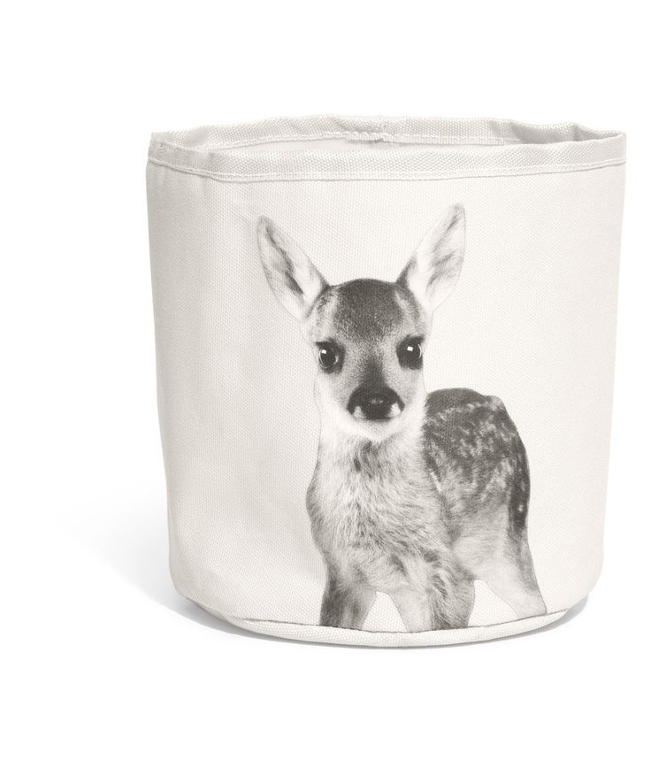 Deer storage basket, perfect for the girls room! H US.