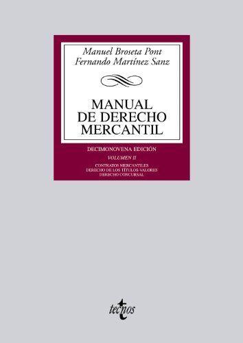 economia derecho manual derecho mercantil: