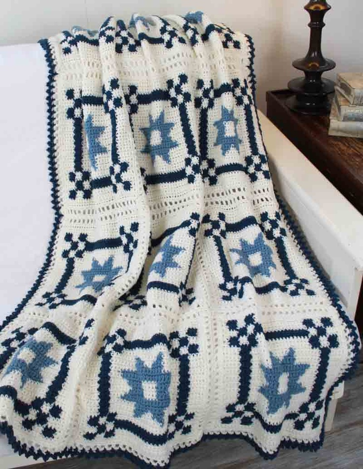 Crochet Patterns That Look Like Quilts : ... crochet afghan?s beautiful motifs are so like a quilted pattern, it