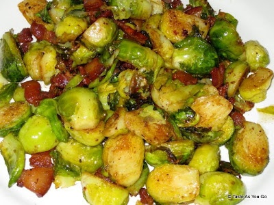 Roasted Brussels Sprouts with Bacon - everything tastes better with ...