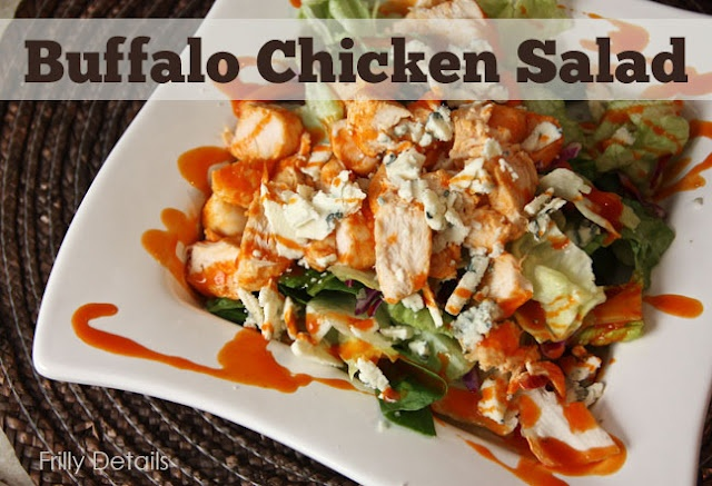 Buffalo Chicken Salad recipe. Looks really easy! Just chicken ...