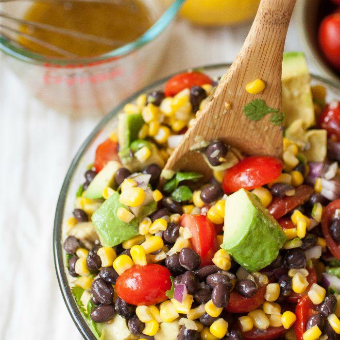 ... avocado and corn salad recipes dishmaps romaine avocado and corn salad