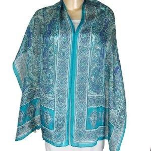 India Clothing Women Scarves Scarves Silk Printed Rectangular (Apparel