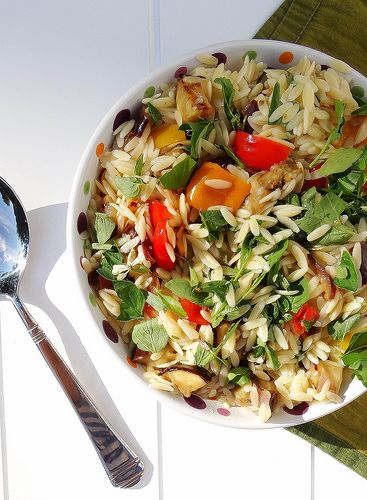 Roasted vegetable orzo | S A V O U R Y | Pinterest
