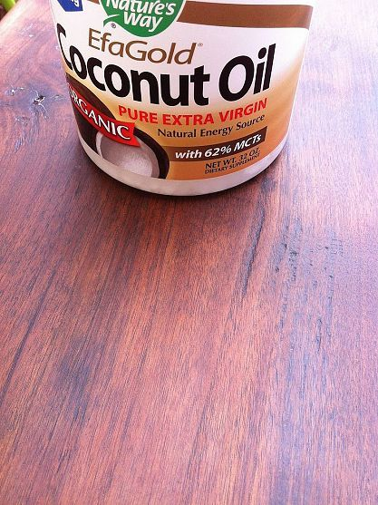 Refinishing Old Wood with Coconut Oil