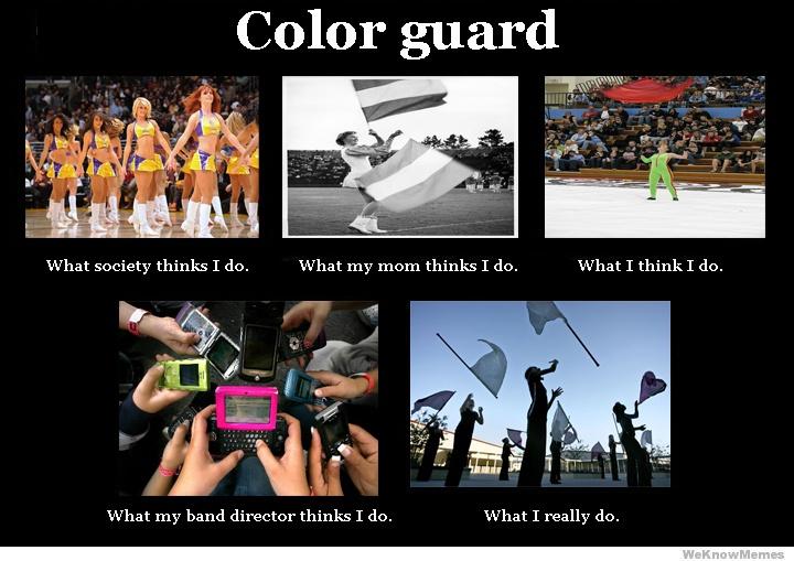 color guard meme band and guard