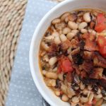 New Year's Spicy Black-Eyed Peas Hoppin' John--You have to have black...