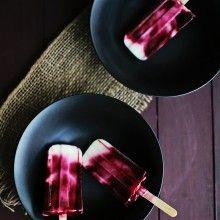 Blackberry-Swirl-Yogurt-Pops | Ice cream and Frozen Treats | Pinterest