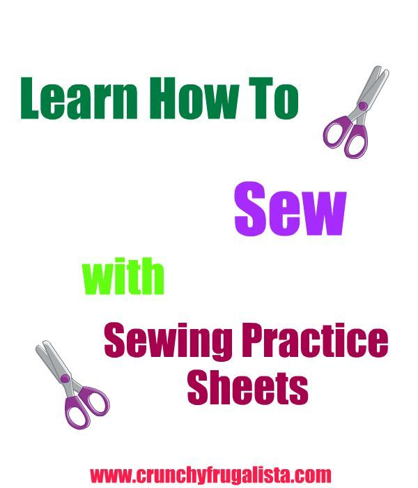 Sewing Practice Sheets This link reminded me that MY home ec teacher, Mrs. Sulli