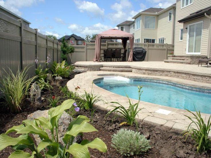 pool backyard escapes gardening pinterest