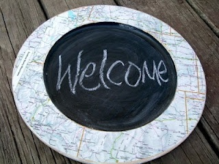 Maptastic Chalkboard ~ * THE COUNTRY CHIC COTTAGE (DIY, Home Decor, Crafts, Farmhouse)