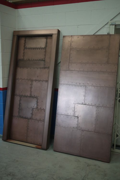 Unbelievable!! MDF doors coated with liquid metal to give an old copper effect. They look absolutely stunning!!