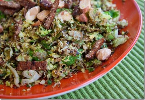Crunchy Shredded Sprouts Salad   yummy vegan recipes   Pinterest