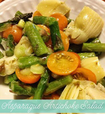 "Momma Bear"": Asparagus Artichoke Salad | Healthy Living | Pinterest"