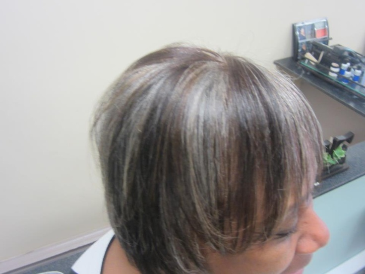 Gray Hair Lowlights Pictures | Dark Brown Hairs