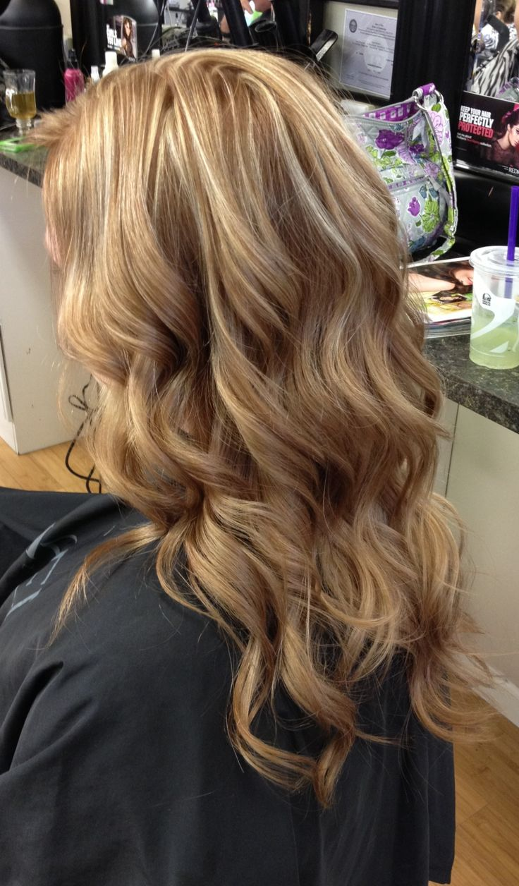 Blonde Highlights With Red Underneath Red hair with blonde highlights ...