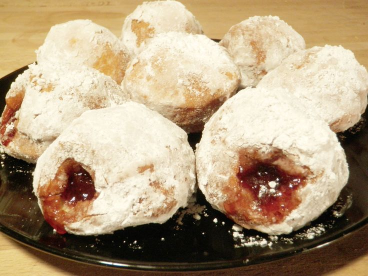 Homemade Jelly Doughnuts Recipe — Dishmaps
