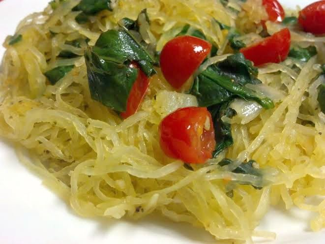 Spaghetti Squash With Tomatoes And Basil Recipe — Dishmaps