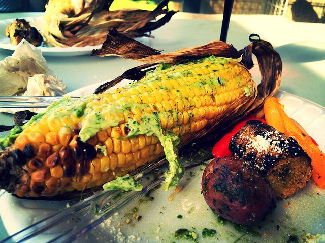Roasted Corn with Cilantro-Lime Butter Mother's Day BBQ