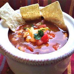 HERDEZ(R) Red Guajillo Chile Chicken Tortilla Soup Allrecipes.com # ...
