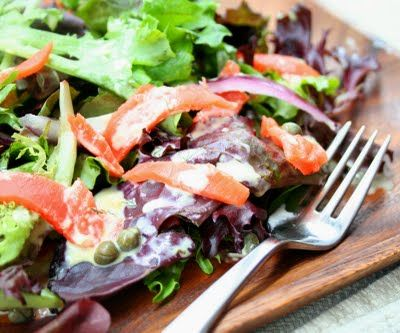 Smoked Salmon Salad with Dilled Bearnaise Dressing