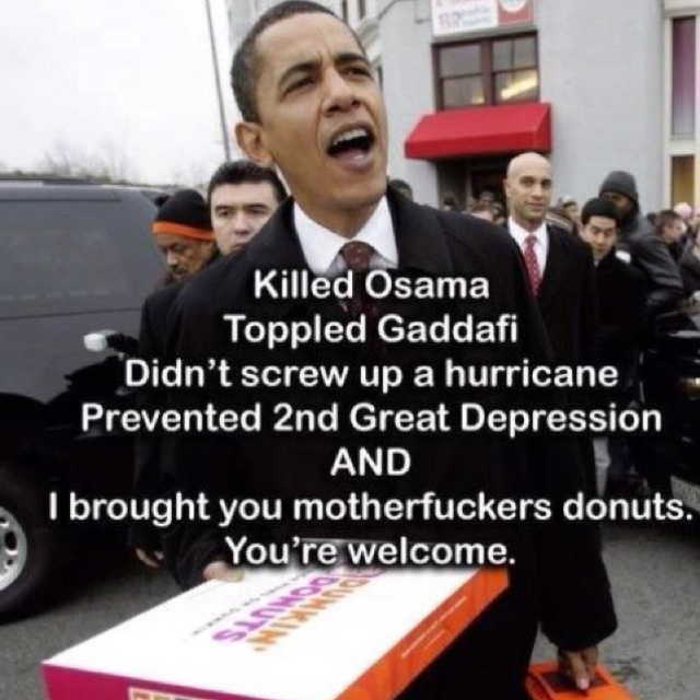 Haha, it's all about the donuts