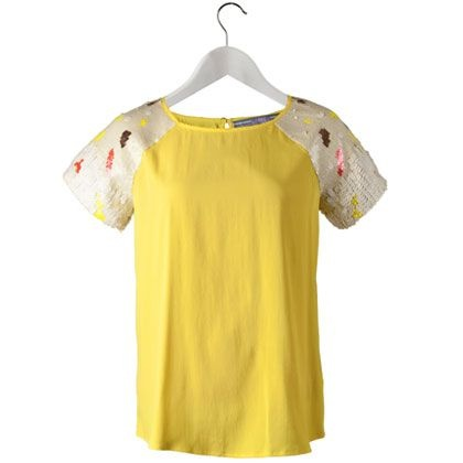 Yellow Sequin Blouse 63
