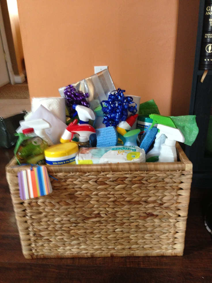 Great idea for a bridal/wedding shower gift! A load of cleaning ...
