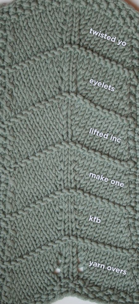 Knitting Increases. Compare your stitch options.