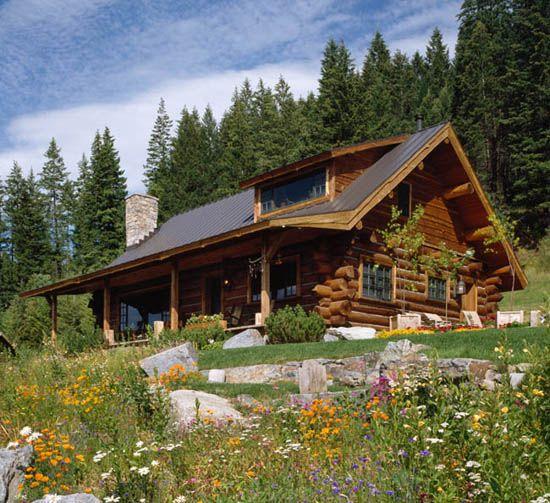 Log Home Cute And Pretty Mountain Homes Pinterest