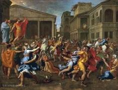 L'enlèvement des Sabines - Nicolas Poussin