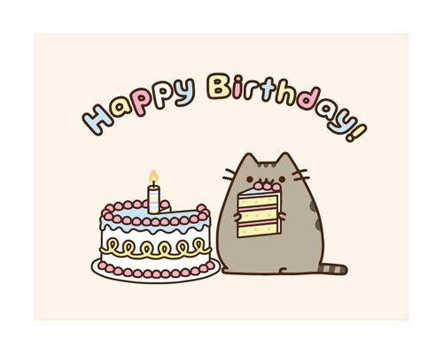 Pusheen Birthday card | Cutes | Pinterest