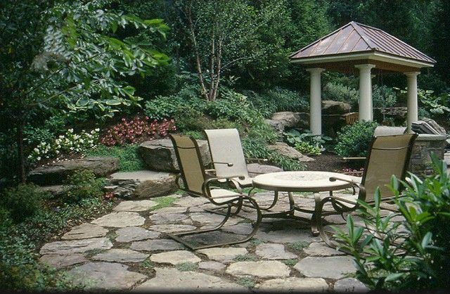 stone patio ideas patio designs yard pinterest