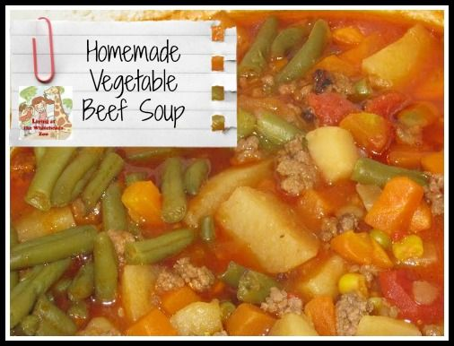Slow Cooker Vegetable Beef Soup | Living At The Whitehead's Zoo | Pin ...