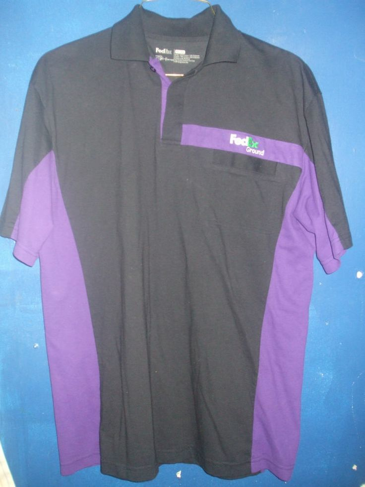 ... Ground Black & Purple Shirt Size XL FedEX Ground Short Sleeve Shirt XL