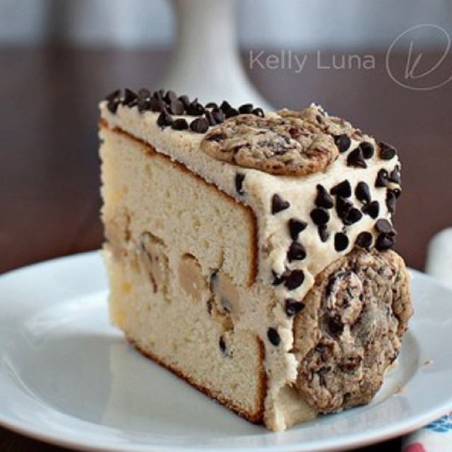 cookie dough cake