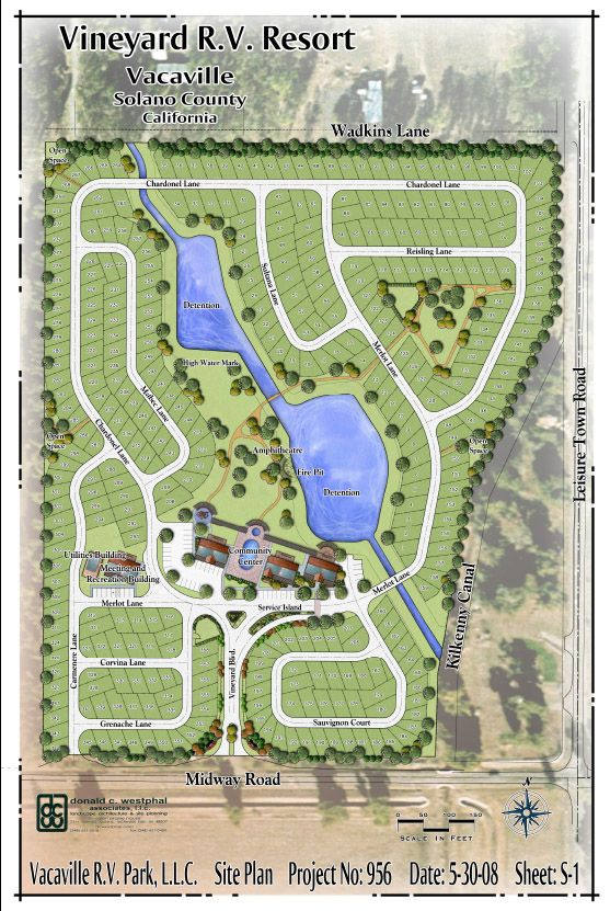 Vineyard rv resort site plan environmental design for Rv park blueprints