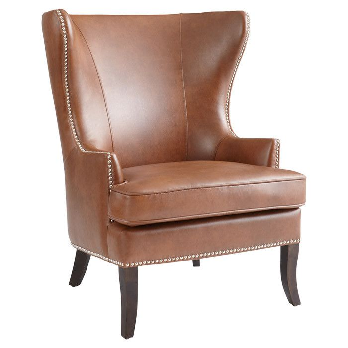 Tufted Leather Wingback Chair leather chairs