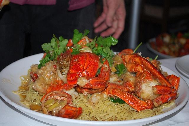 lobster yee mein = umami explosion | savory | Pinterest