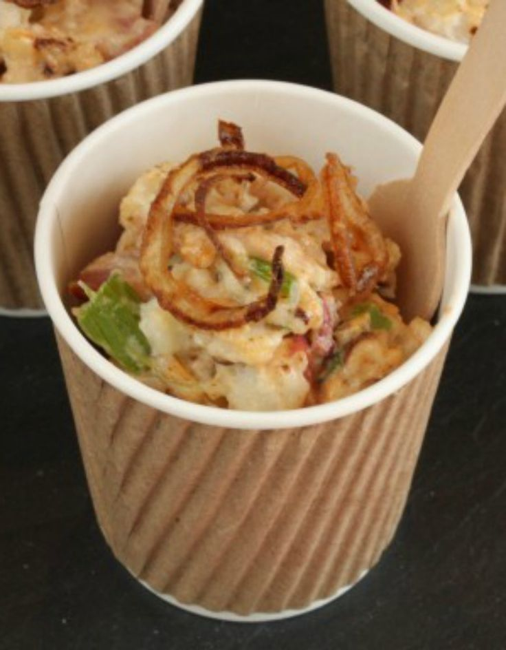 Chipotle Potato Salad with Crispy Shallots |The Hopeless Housewife®