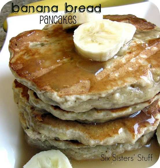 Easy Banana Bread Pancakes | Thing's I've Pinterested at home | Pinte...