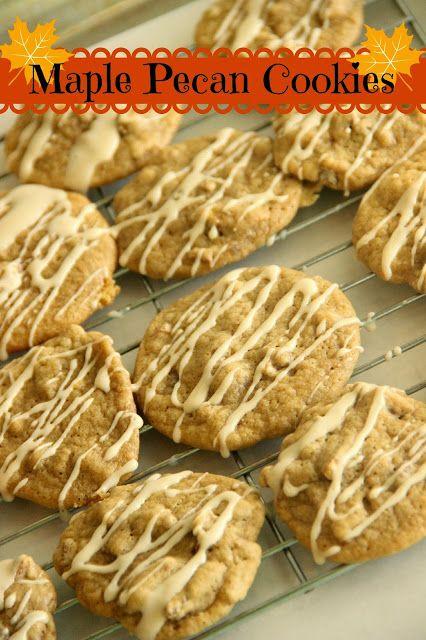 Maple Pecan Cookies   Crazy for Cookies!   Pinterest