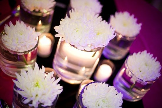 White chrysanthemum centerpiece wedding ideas pinterest