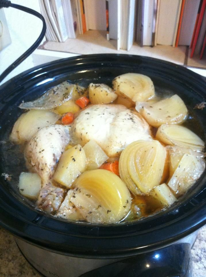 Crock-Pot Whole Chicken.....Can't wait to eat our chicken tomorrow ...