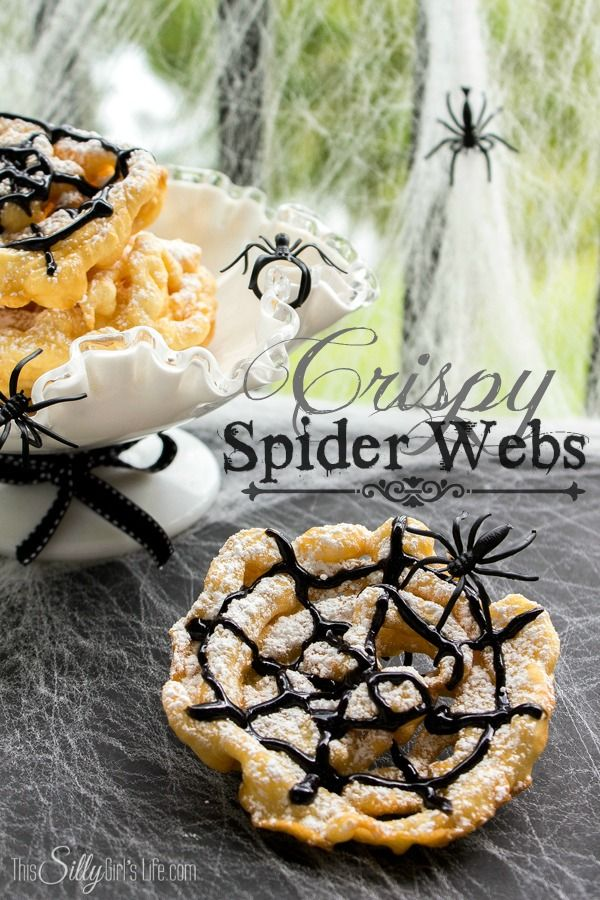 Crispy Spider Webs {Mini Funnel Cakes} - This Silly Girl's Life
