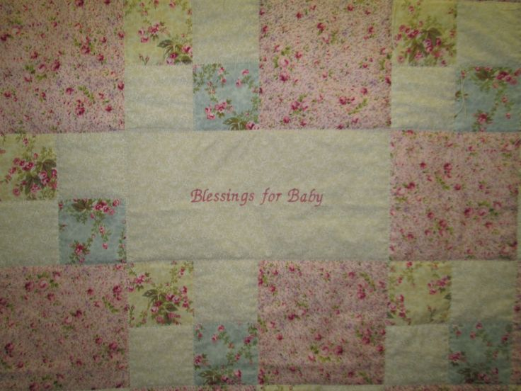 baby 39 s blessings quilt baby shower wishes and prayers handmade quil