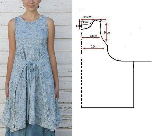 Платье для полных своими руками в стиле бохо